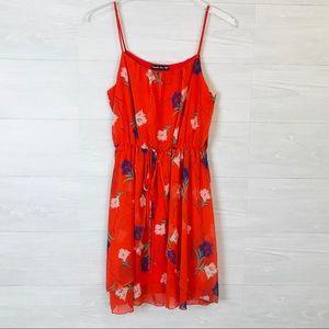 Double Zero brand orange floral summer dress